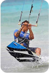 Kite Beach at Atlantis provides excellent kiteboarding conditions