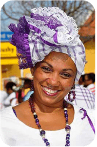 Many of the ladies in Rincon are in traditional costume.