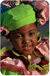 Even children wear the cultural costumes of the Simadan.