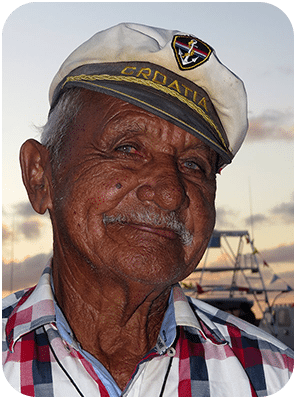 Ismail, one of Bonaire's fishermen.