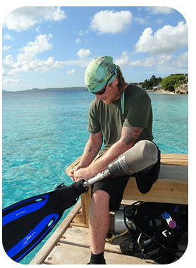 Bonaire's calm conditions make it the ideal place for handicapped divers.