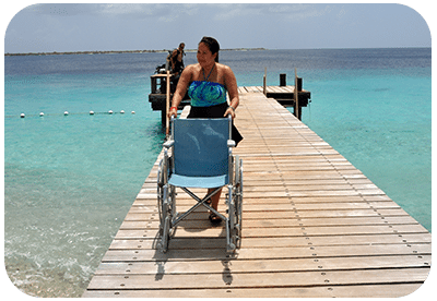 Some docks at dive facilities are wheelchair accessible.
