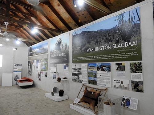 The museum exhibit at Mangazina di Rei introduces the history of Bonaire's northern section.