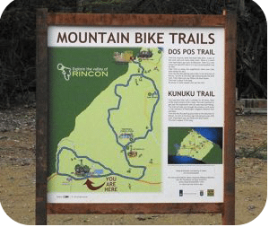 Mountain Bike Trails begin at Dos Pos