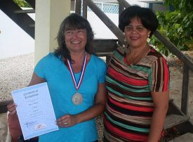 Tracy Zontek, with 15 Years of Visiting Bonaire