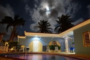 Carib Inn's Pool, at night