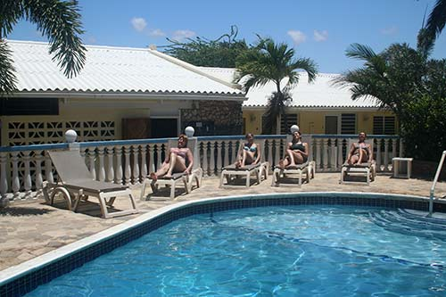 Carib Inn's new pool lounge chairs