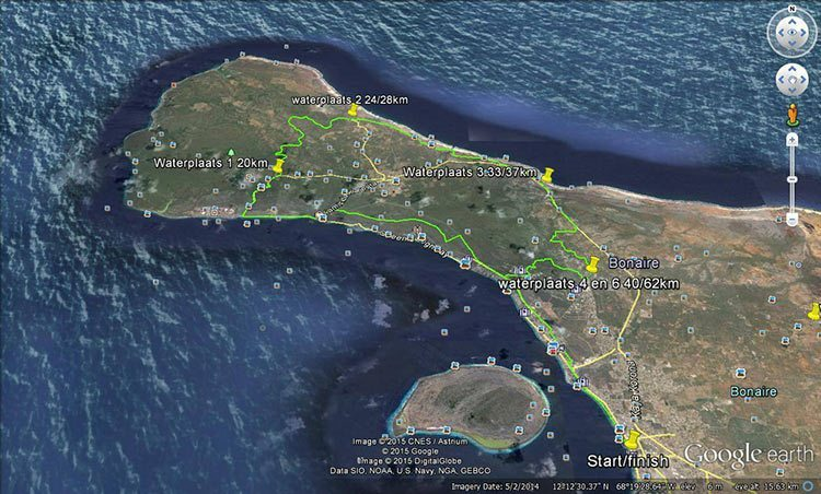 "The ""pro"" route of the Bonaire Duo Xtreme Mountain Bike Race"