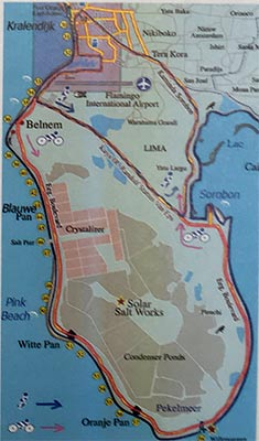 routes of the 2017 Jong Bonaire fun walk