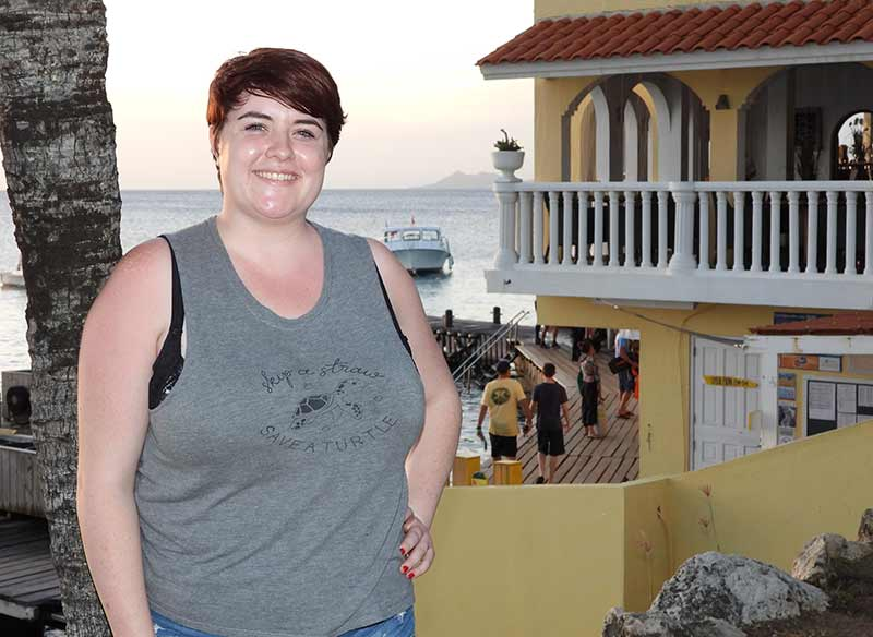 Lydia Pearce hopes to relocate to Bonaire after her studies in marine biology.