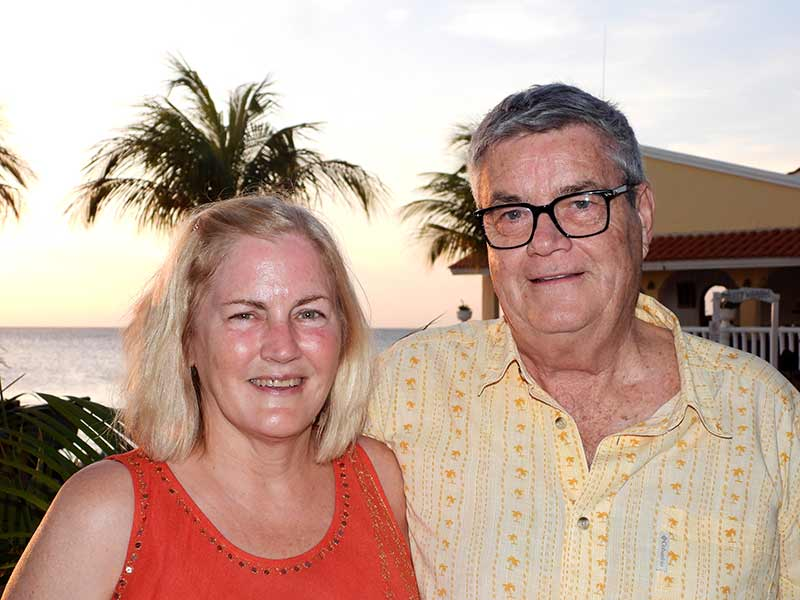 Patti and Jay Pearce return to Bonaire 25 years after their initial visit.