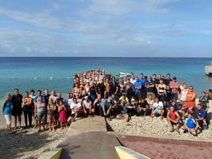 Bonaire's quarterly underwater cleanup.