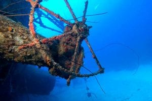 Bonaire's famous shipwreck and dive site, The Hilma Hooker.