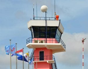 After 42 years of service, the iconic Flamingo Airport tower comes down.