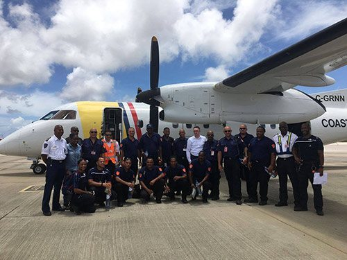 Police and firemen are dispatched from Bonaire to the Windward Islands.