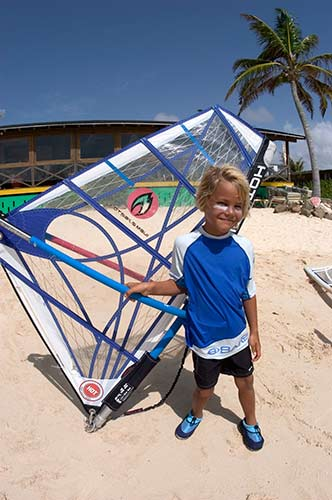 Kids excel at windsurfing when they start learning at an early age.