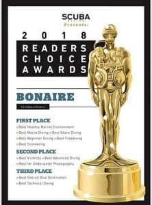 Bonaire receives multiple awards in Scuba Diving Magazine's 2018 Readers' Choice Awards