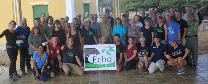 There were over 50 volunteers in the 2018 Bonaire parrot count.