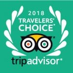 Selected as a 2018 Travelers' Choice Recipient by TripAdvisor