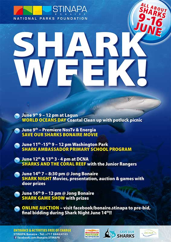 Events for the 2018 Bonaire Shark Week