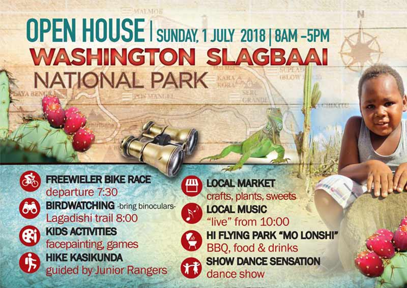 Washington Slagbaai National Park has its annual Open House on July 1st, 2018