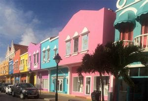 Kaya Grandi on Bonaire, the island's main shopping street.