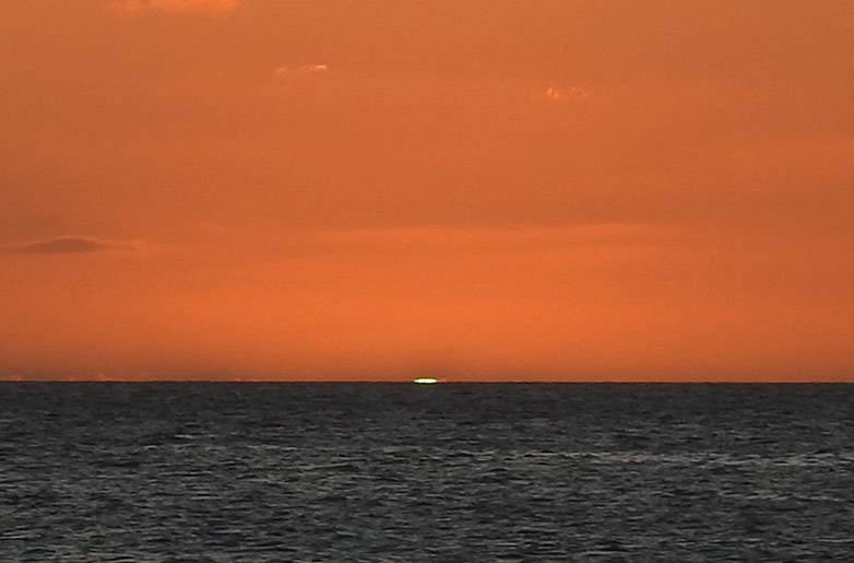 Watch for Bonaire's famous Green Flash.