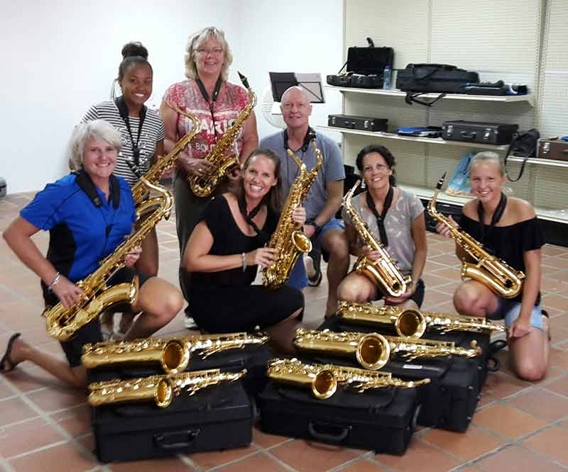 Saxomania Teaches Bonaire's Youth a New Musical Genre.