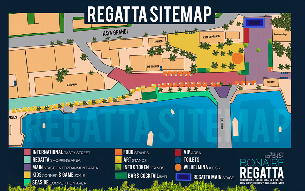 Bonaire Regatta 2019--Site Map