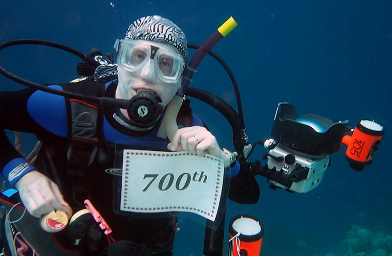 Alan Zale, Frequent Bonaire Visitor, Logs 700th Dive