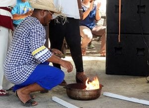 Celebrating year-end traditions at the Nos Zjilea Cultural Event at Mangazina di Rei on Bonaire.