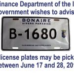 Issuance of New Bonaire License Plates