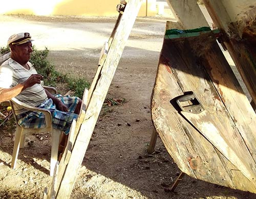 Ismael Soliana is lovingly restoring the traditional sailing vessel, Etienne.