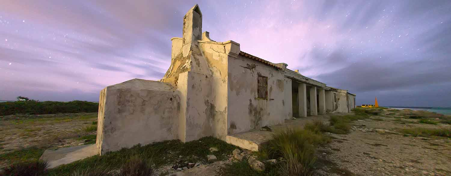 "The ruin of an old ""mangazina"" on Bonaire."